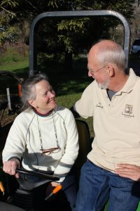 Stew and Barb on tractor